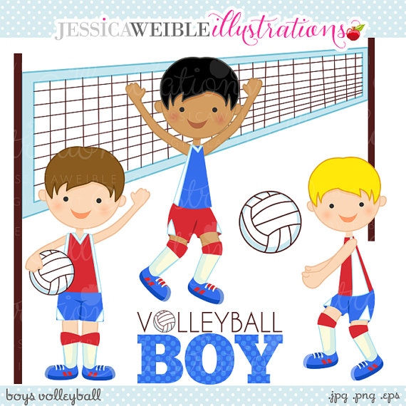 Child clipart volleyball JWIllustrations Cute Zone Clipart Volleyball