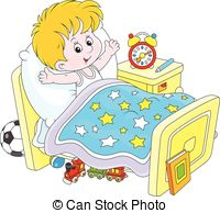 Boy clipart wakes up Little his and Waking up