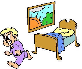 Boy clipart wakes up Waking art up up Clip
