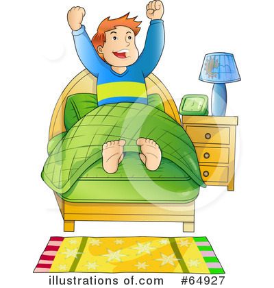 Boy clipart wakes up Waking clipart up waking clipart