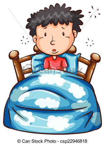 Boy clipart wakes up In Vector of Clip