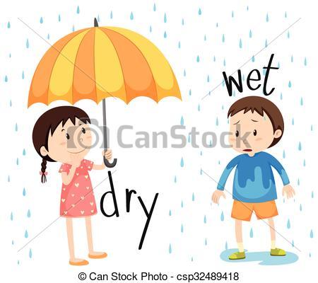Boy clipart wet Art of wet wet dry