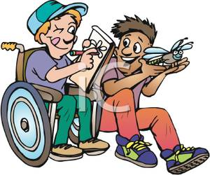 Boy clipart wheelchair A While A In Holds