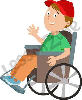 Boy clipart wheelchair Wheelchair Young Lesson in Clip