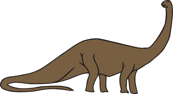 Brachiosaurus clipart happy As: Brown Brachiosaurus Clker Download