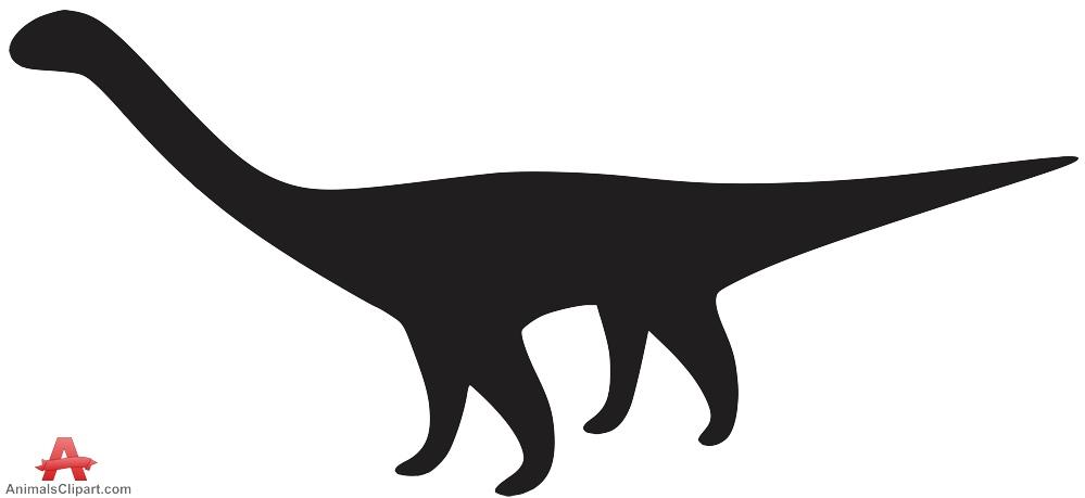 Brachiosaurus clipart blue dinosaur Silhouette Free Diplodocus Clipart Download