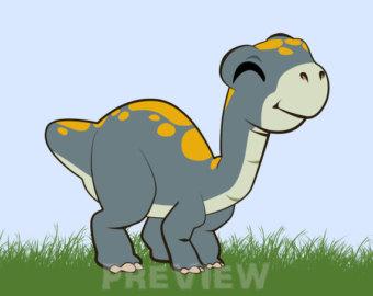 Brachiosaurus clipart blue dinosaur Brachio Jurassic Dinosaurs commercial clipart