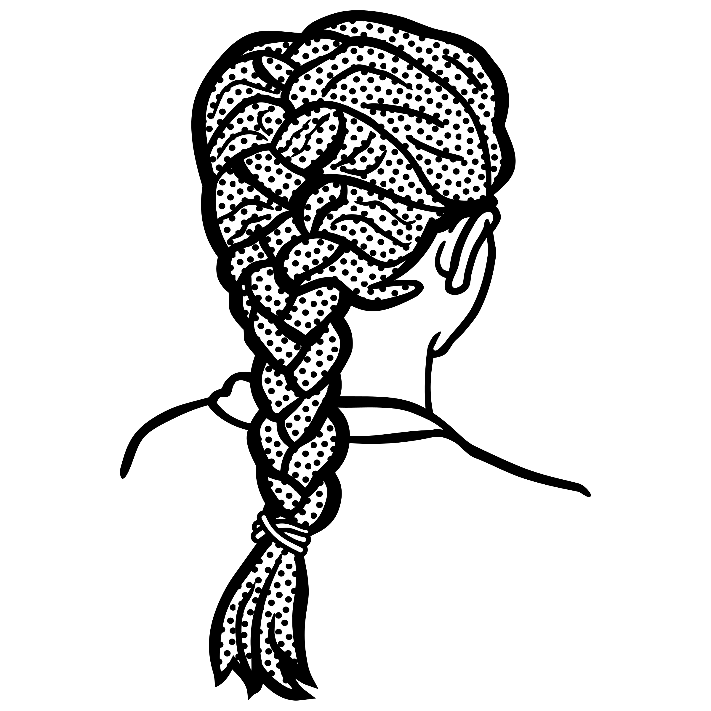 Braid clipart black woman Lineart french braid lineart french