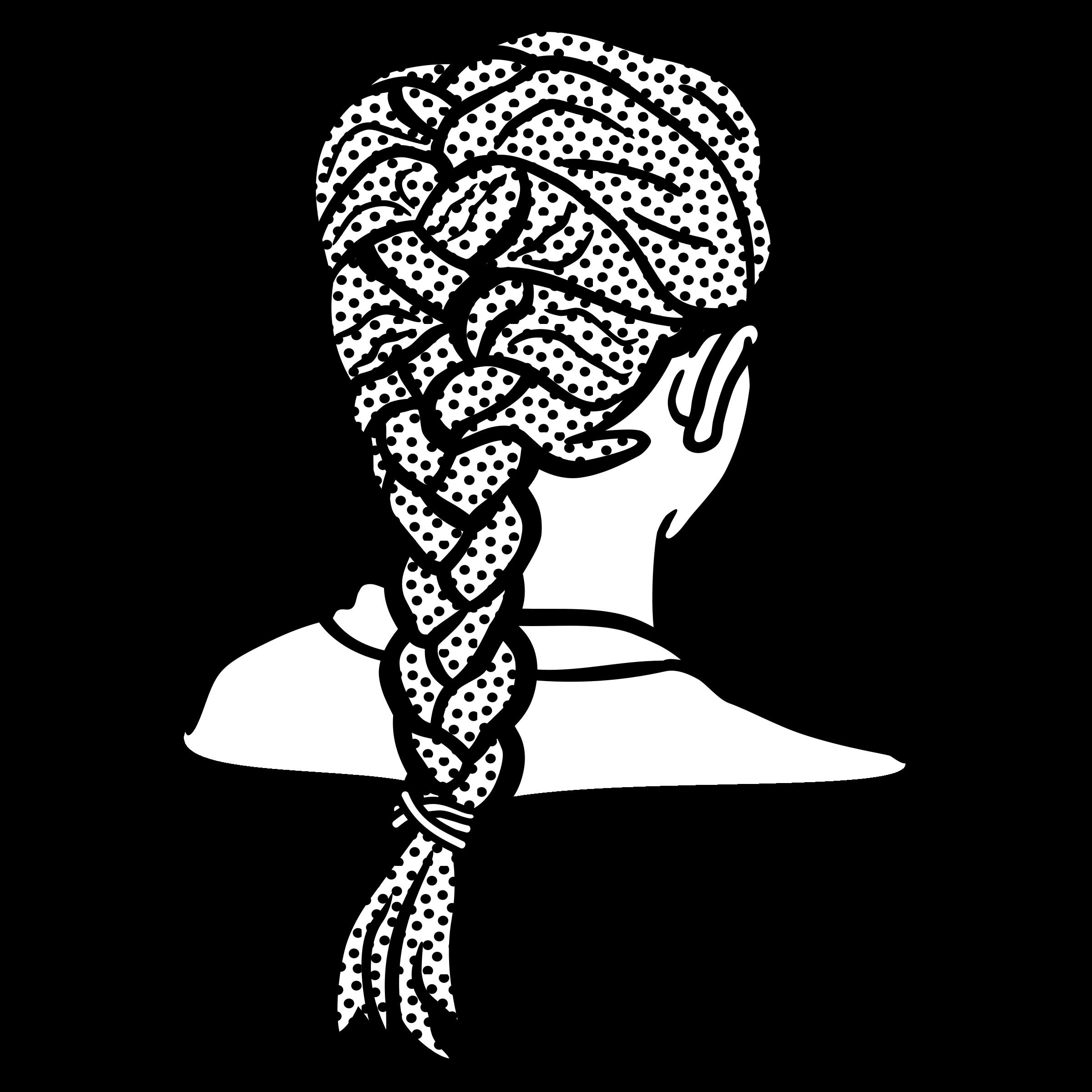 Hair clipart braid Braid french braid french lineart