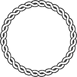 Braid clipart pigtail Border Braid Clip Circle Art