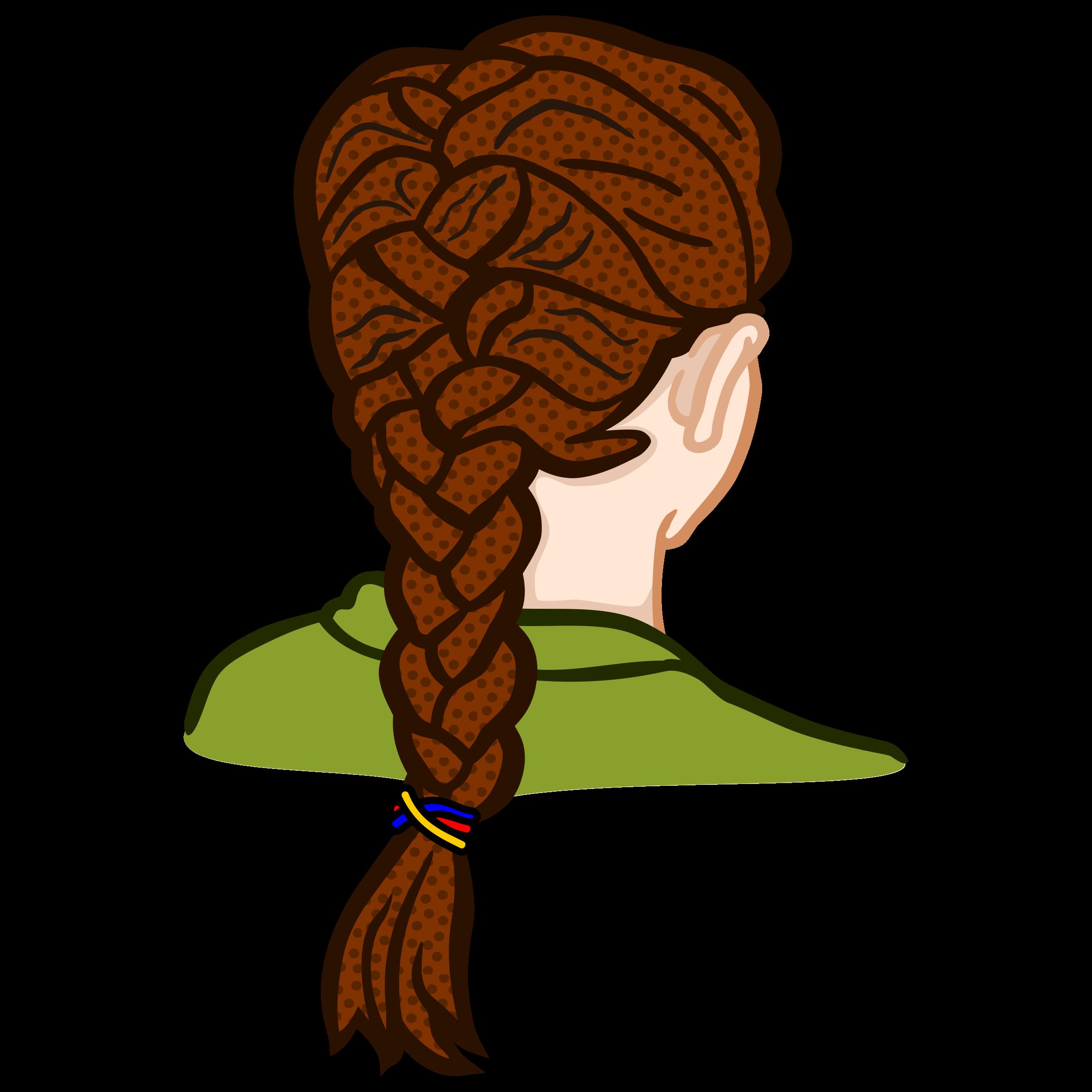 Hair clipart braid Braid french braid french coloured