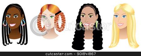 Braid clipart black woman Braids  African Clipart