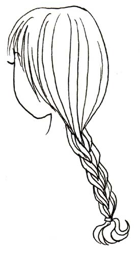 Drawn braid coloring hair Braid drawings Braid coloring coloring