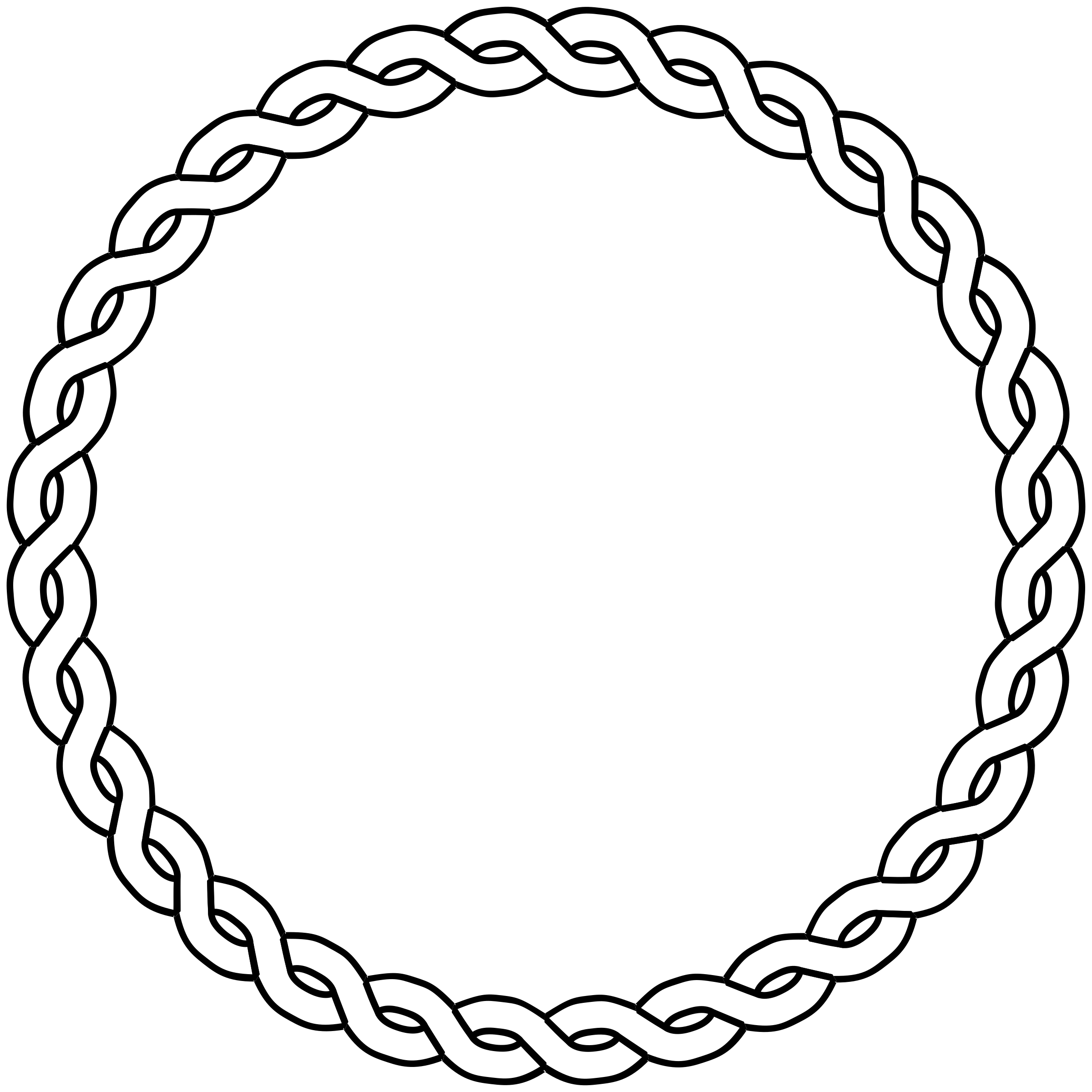 Braid clipart circle Border circle rope circle border