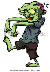 Brain clipart zombie brain Walking Exposed Art Art Brain