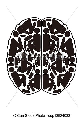 Brain clipart abstract Abstract view top abstract