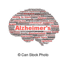 Brains clipart alzheimer's Alzheimer's isolated photography concept and