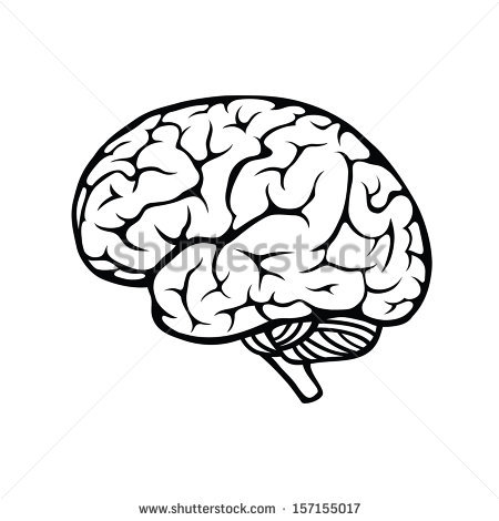 Drawn brain clear background #8