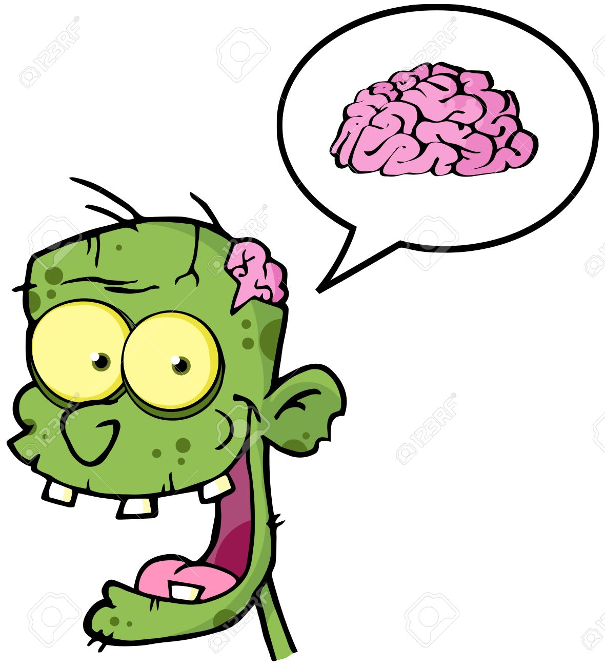 Frankenstein clipart cartoon Cliparts Clipart Brain Brain Zombie