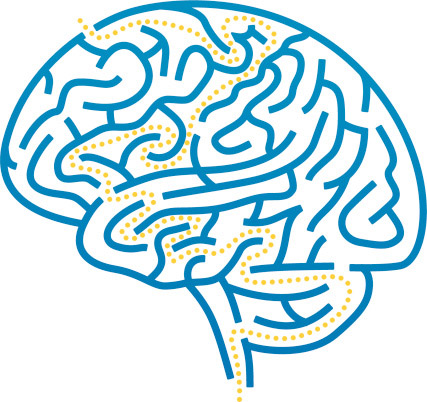 Drawn brain profile #13