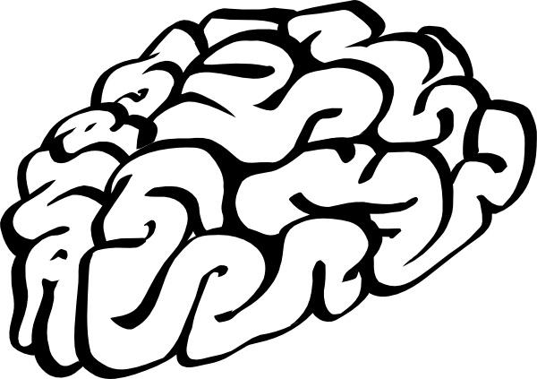 Drawn brain clipart background #15