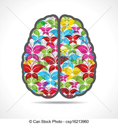 Brains clipart colorful A brain of a Colorful
