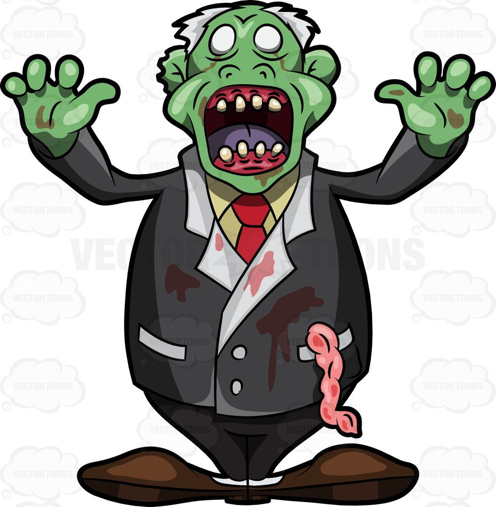 Brains clipart creepy Cartoon Scare Clipart Vectors Zombie