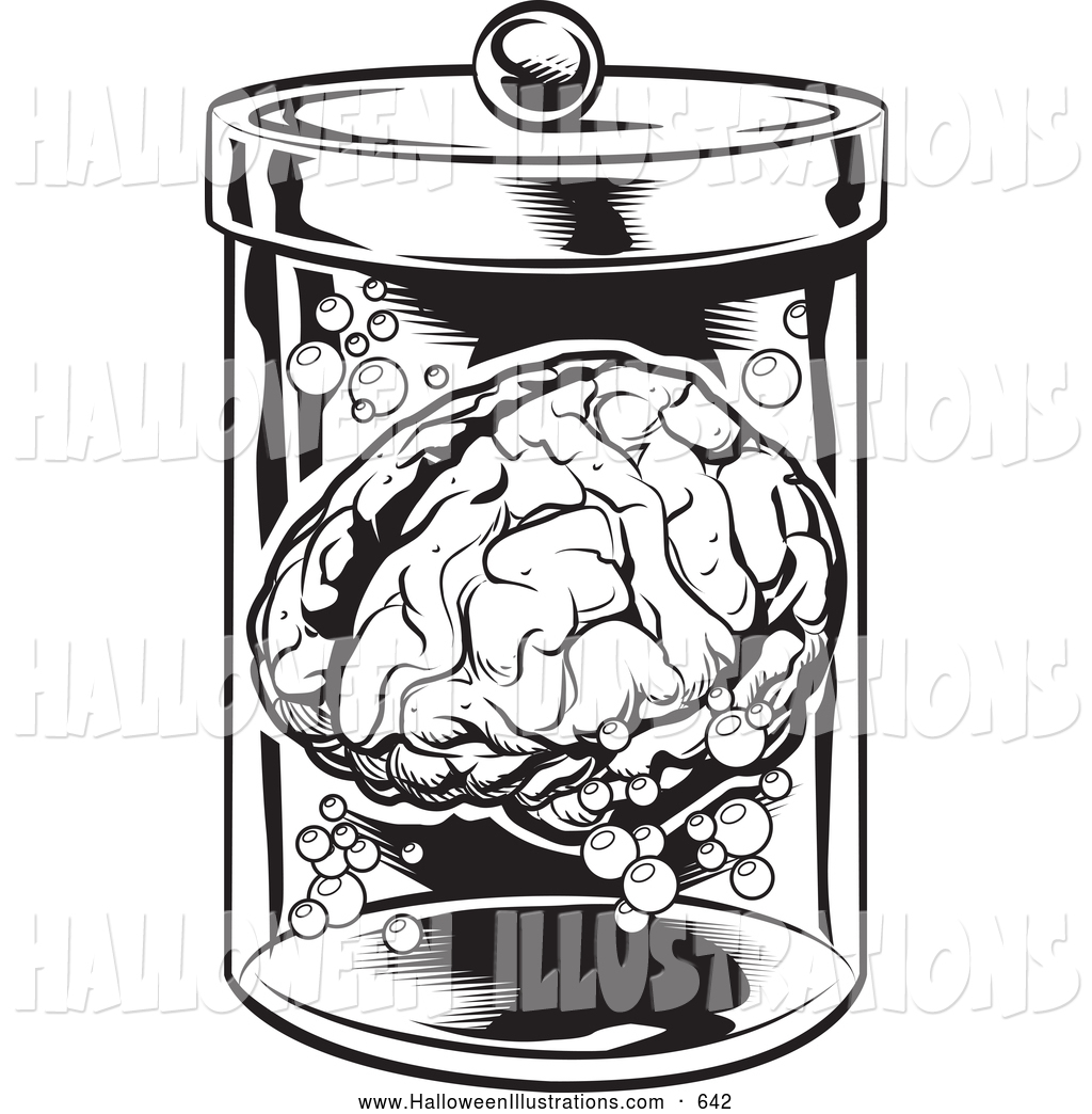 Brains clipart creepy Laboratory Floating Specimen Horror Brain