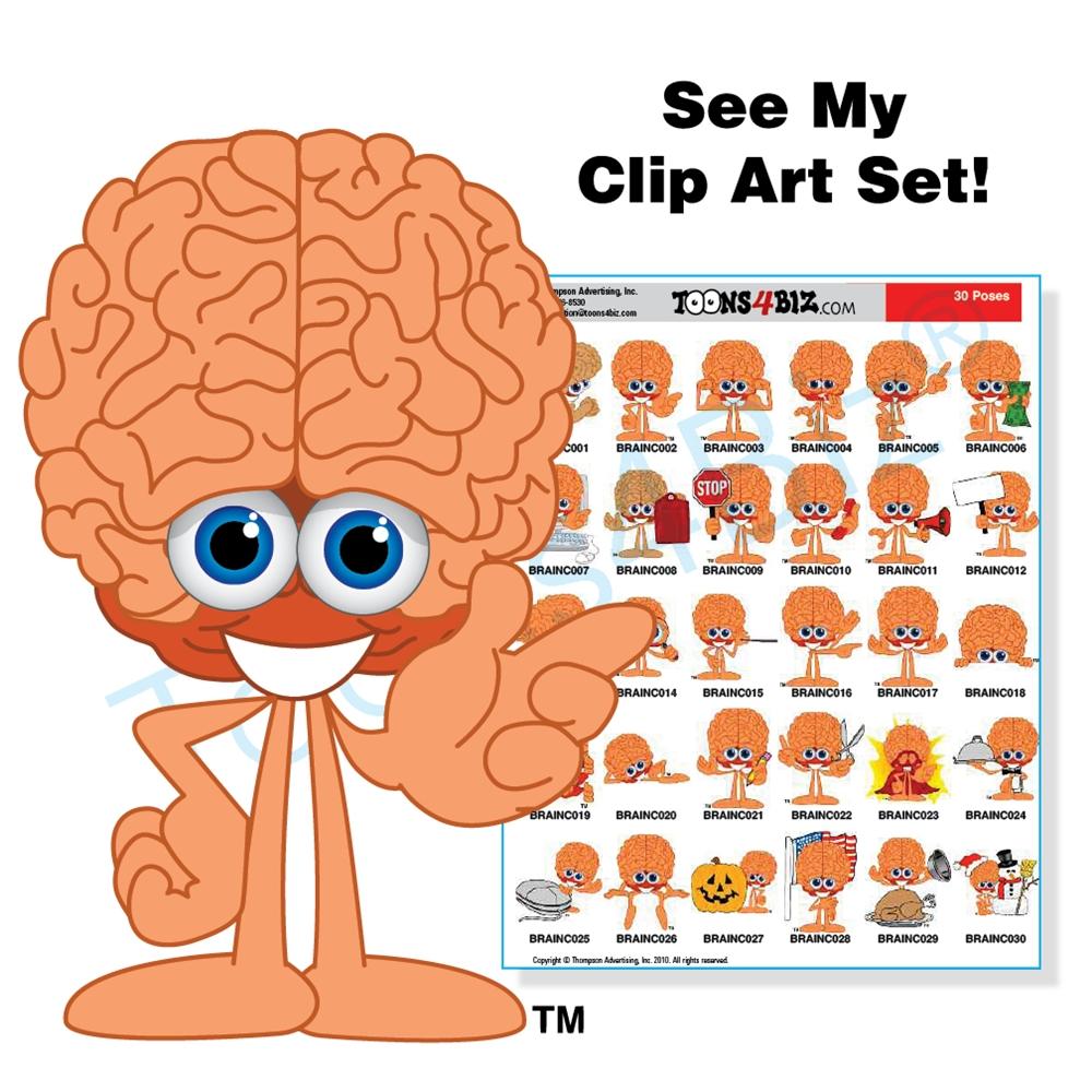 Brains clipart cute cartoon #5