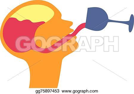 Brains clipart drunk EPS EPS Clipart Illustration that