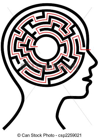 Maze clipart black and white Outline as Puzzle Outline a