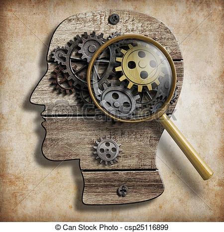 Brains clipart psychologist Mental idea and Brain Stock