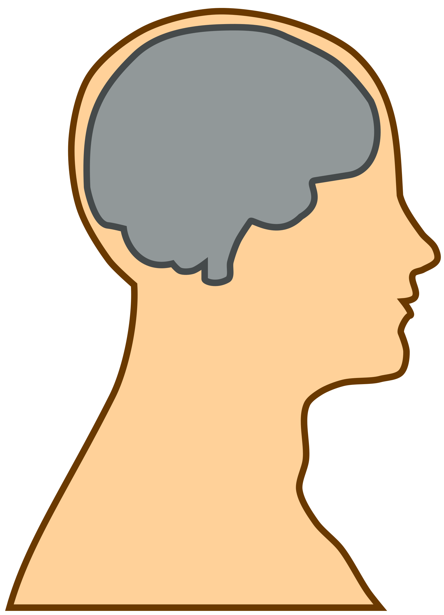 Brains clipart silhouette Brain a brain of a