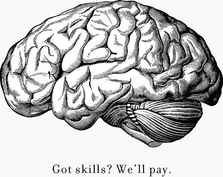 Realistic clipart human brain #4