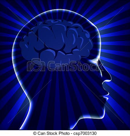 Brains clipart turn Of on  on blue