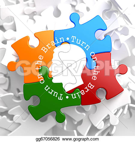 Brains clipart turn Icon written Stock multicolor Turn