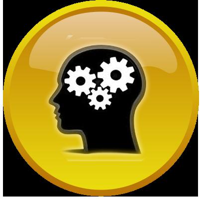 Brains clipart yellow Yellow button gear