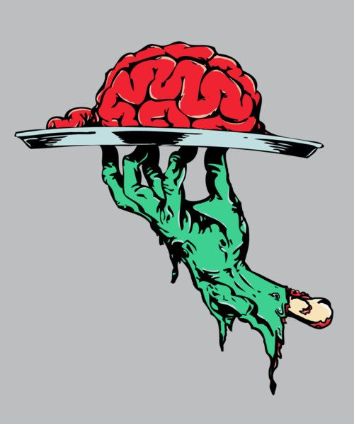 Brain clipart zombie brain Zombie on Top illustration Platter