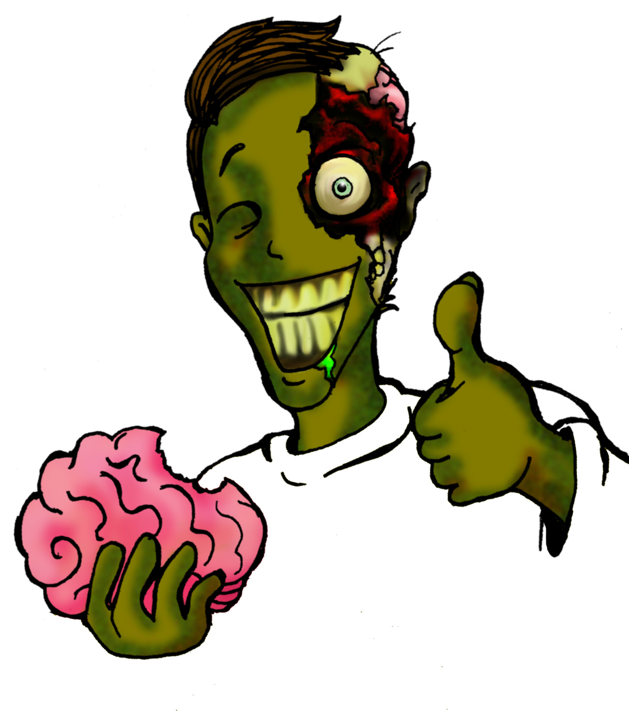 Brain clipart zombie brain DemonicNeko Zombie DemonicNeko on by
