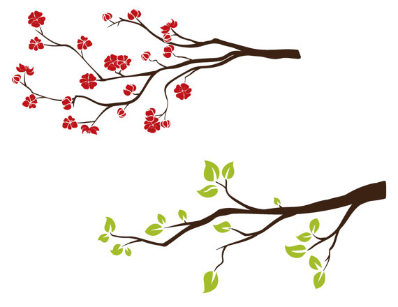 Branch clipart Digital Spring Flowering Branch This