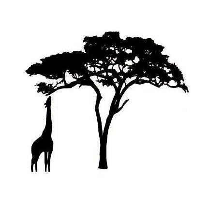 Branch clipart african tree Tree Tree African Safari Clipart