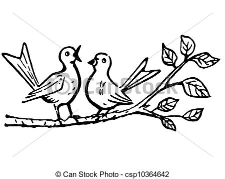 Branch clipart black and white White a branch On Clipart