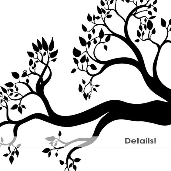 Branch clipart black and white Branch Clipart Clipart Tree Black