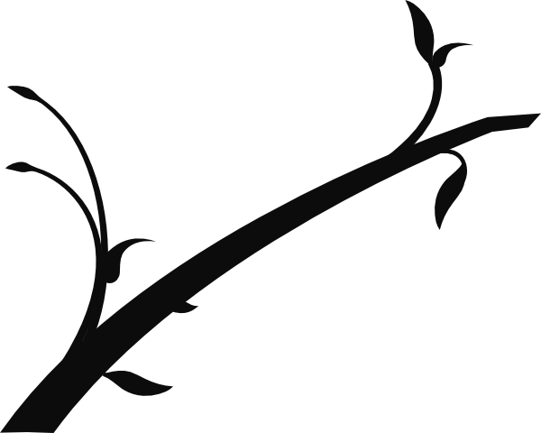 Branch clipart black and white Art Black and Clipart Branch