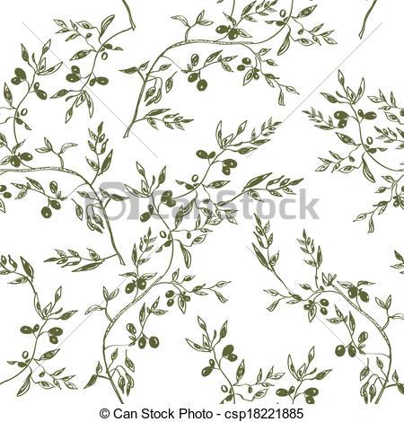 Branch clipart drawn Pattern branch Seamless hand design
