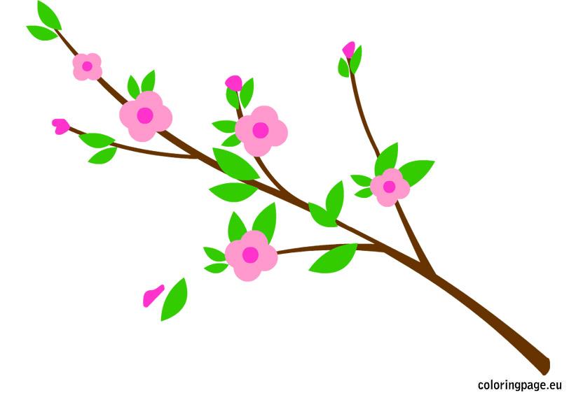 Branch clipart flower branch Cliparts clipart Zone Flower Flowering
