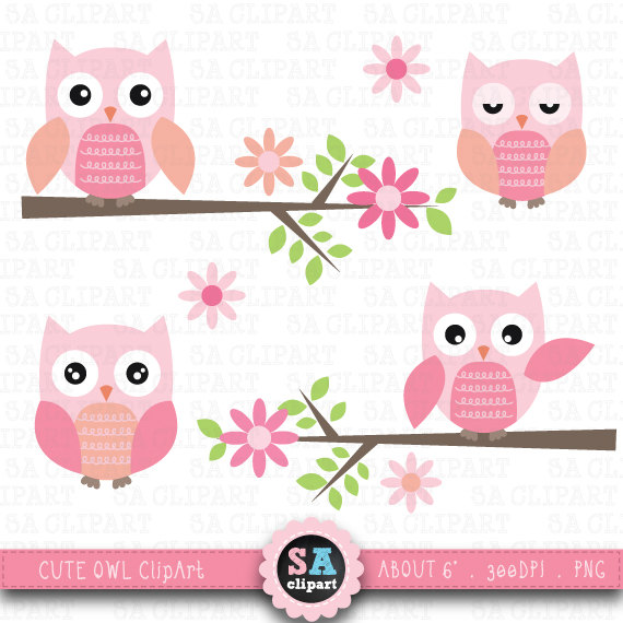 Branch clipart tree stick Clipart Cute owls CLIP ART