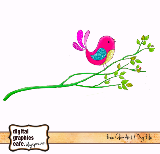 Brds clipart branch Graphics Free scrapbook Digital from