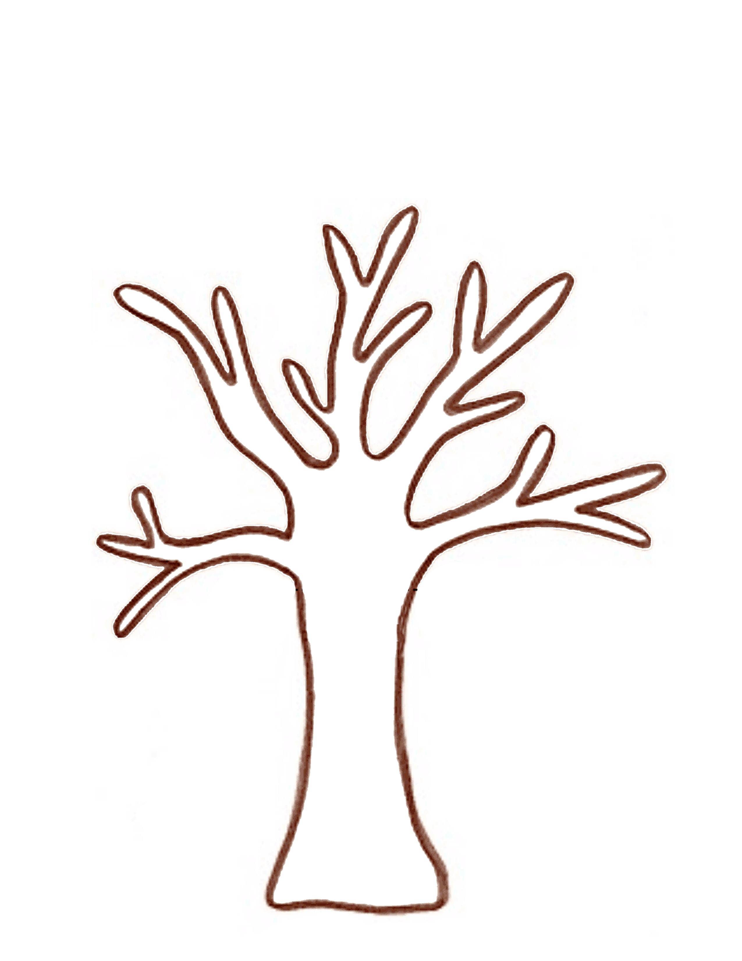 Branch clipart tree log Template Handprint  Template Download