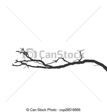 Branch clipart vector art Csp28516956 Clipart Silhouette Vector Dead